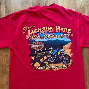 Harley Davidson T Shirt Jackson Hole Wyoming 2010